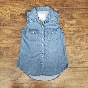 Girl Krazy Size XS Denim Blouse